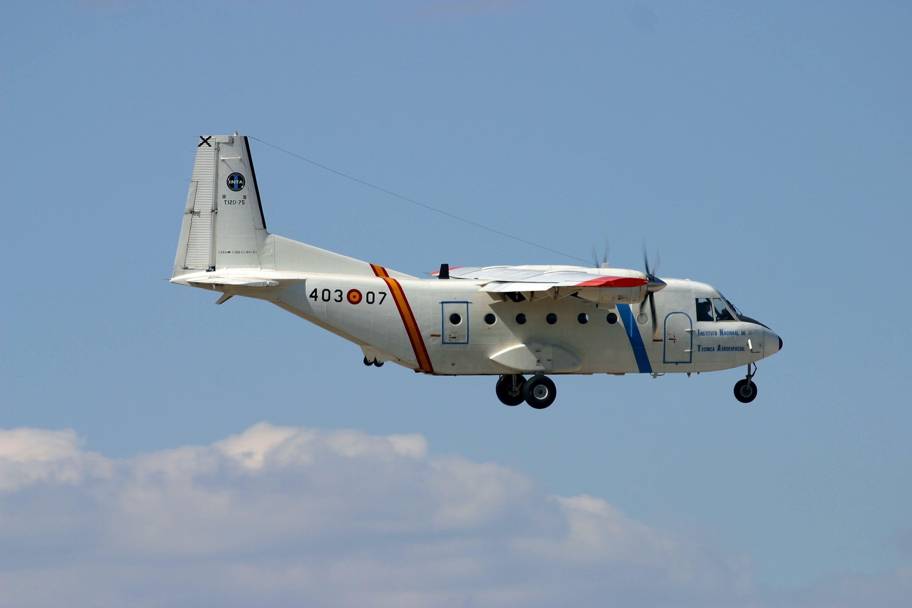 INTA's CASA 212 aircraft