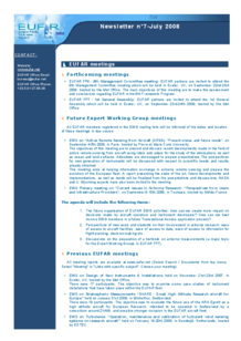 8th EUFAR FP6 Newsletter (July 2008)