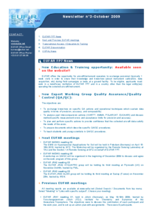 3rd EUFAR FP7 Newsletter (October 2009)
