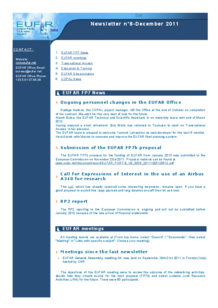 8th EUFAR FP7 Newsletter (December 2011)