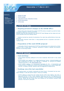 7th EUFAR FP7 Newsletter (March 2011)
