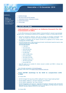 6th EUFAR FP7 Newsletter (December 2010)