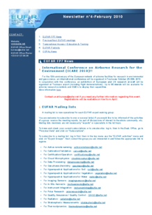 4th EUFAR FP7 Newsletter (February 2010)