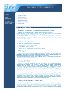9th EUFAR FP7 Newsletter (November 2012)