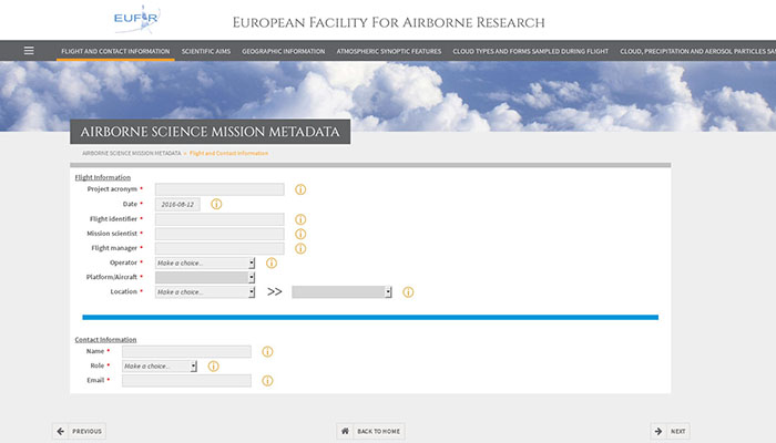 Airborne Science Mission Metadata image