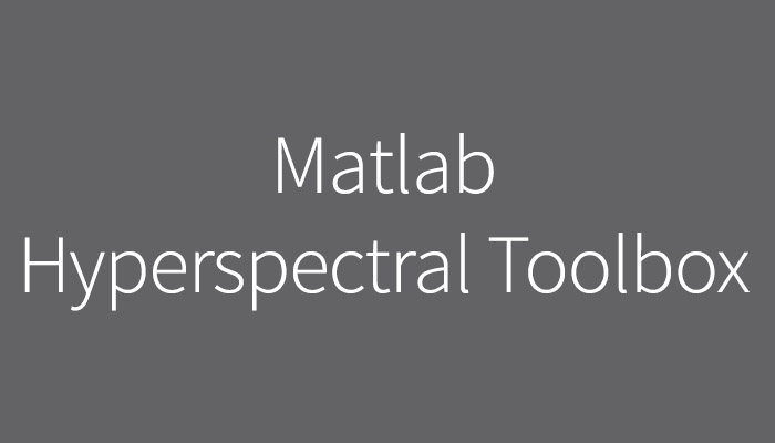 MATLAB HYPERSPECTRAL TOOLBOX image