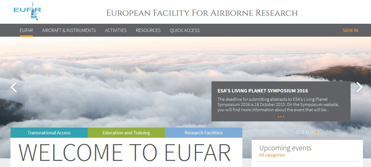Launch of the new EUFAR website!