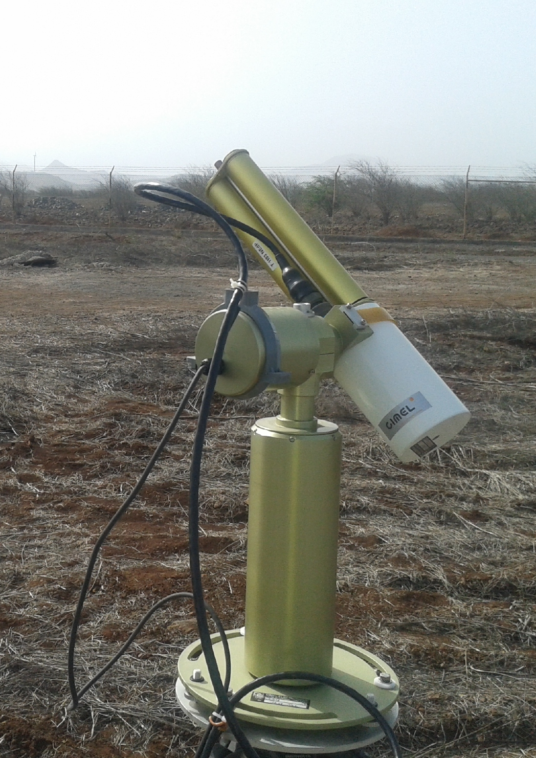 The Cimel sunphotometers deployed at Praia (Cape Verde) during SAVEX-D flight campaign. Copyright Victor Estelles.