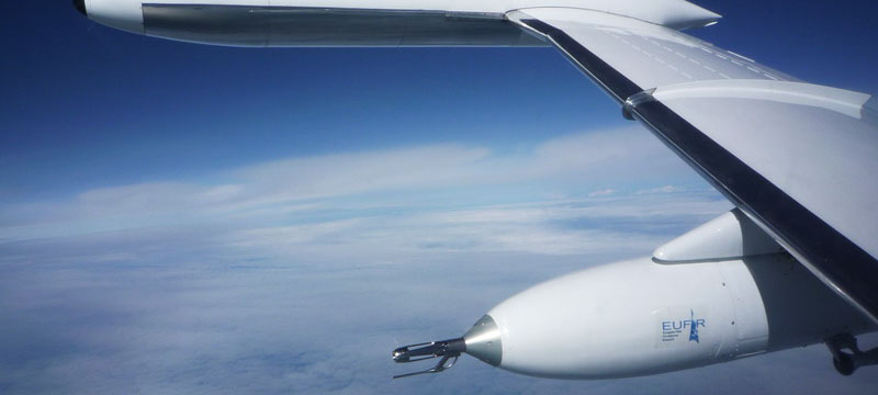 EUFAR FP6 Joint Reserch Activity - Testing of Pod on board GFD's LearJet 35A in Sept 2008