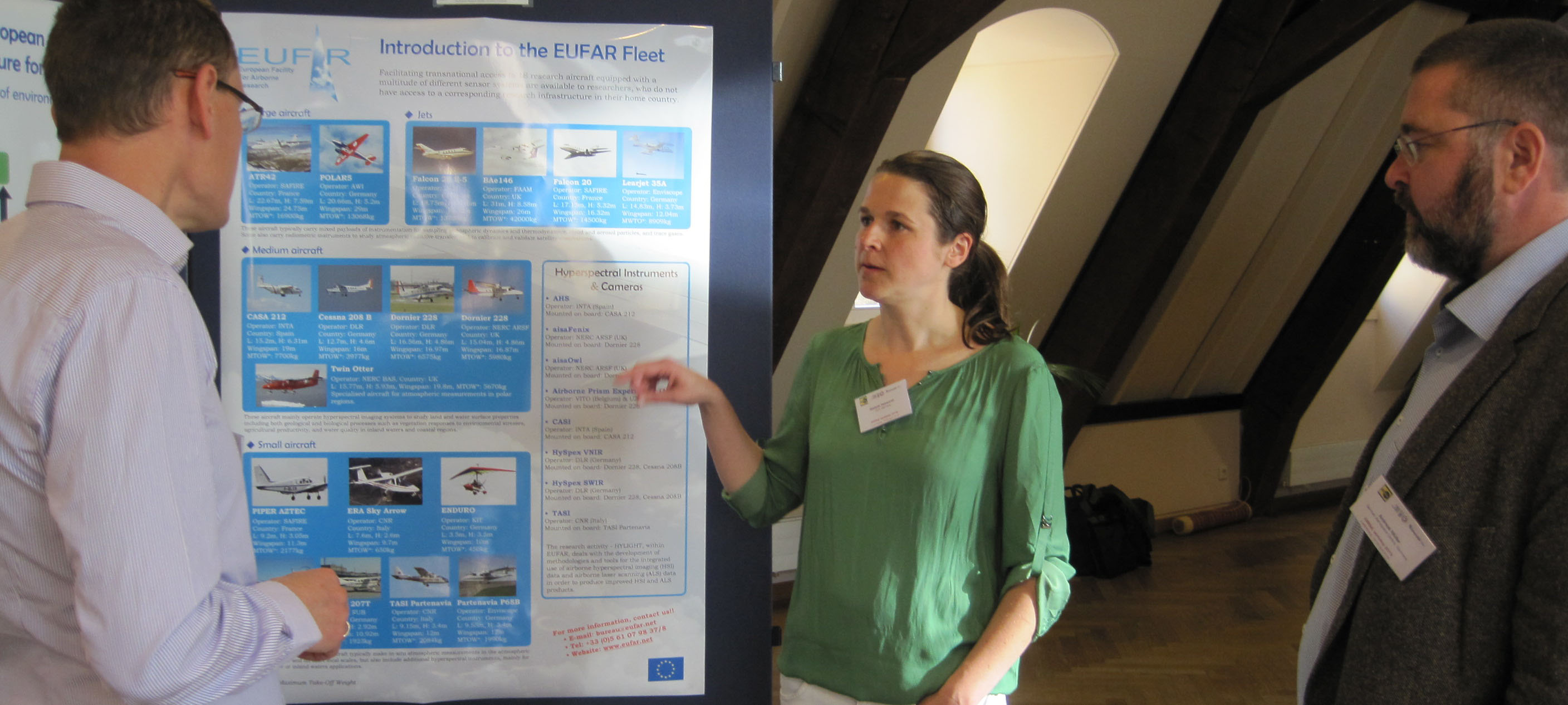 Standards & Protocols Activity Coordinator Stefanie Holzwarth (DLR) at 9th EARSeL SIG Imaging Spectroscopy workshop, April 2015. Copyright EUFAR.
