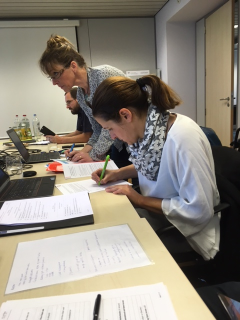 Signature of the internal regulations by Stefanie Holzwarth