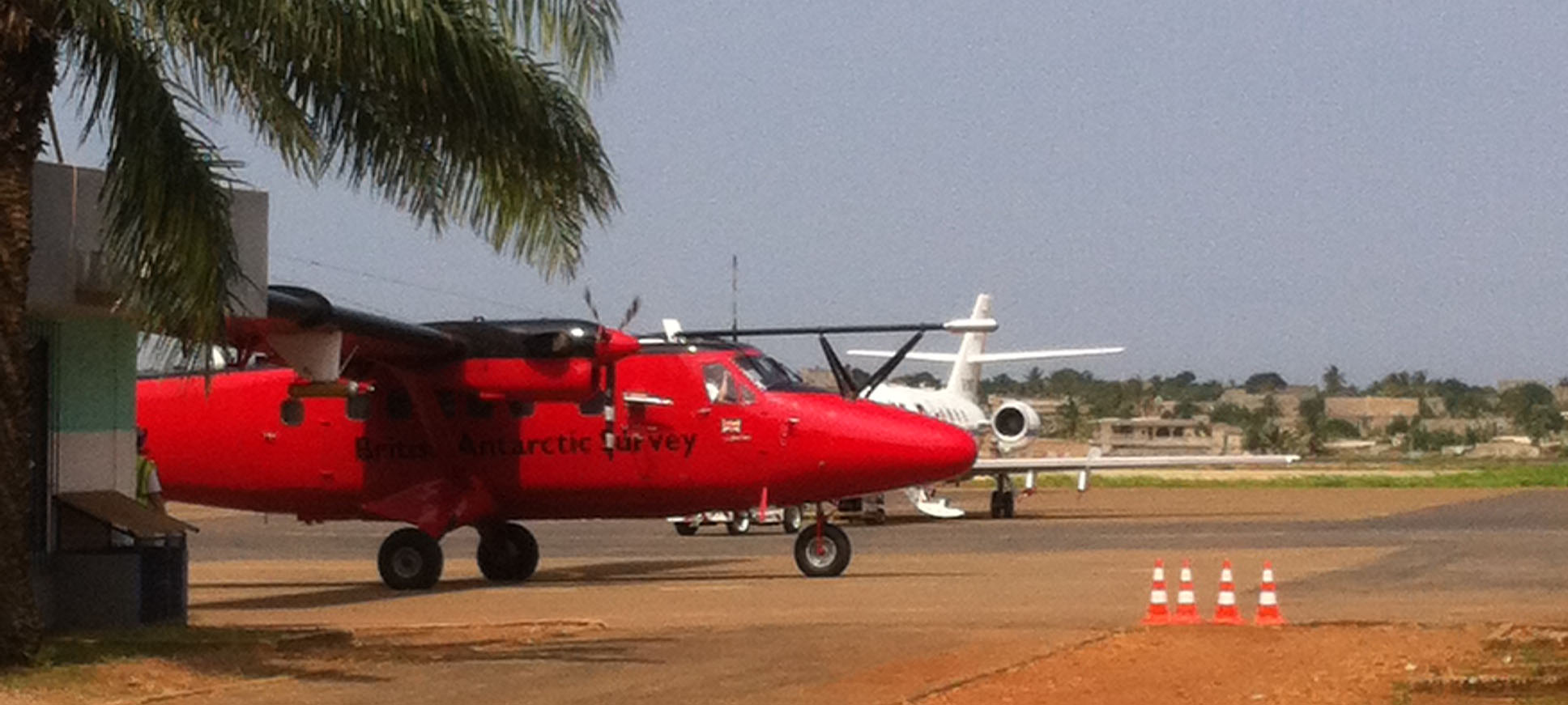 NERC/ BAS Twin Otter in Lomé during the DACCIWA campaign in summer 2016