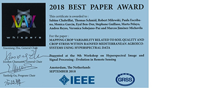 WHISPERS 2018 Best Paper Award