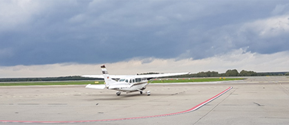 FUB Cessna C207 prepared to start from Katowice-Pyrzowice airport
